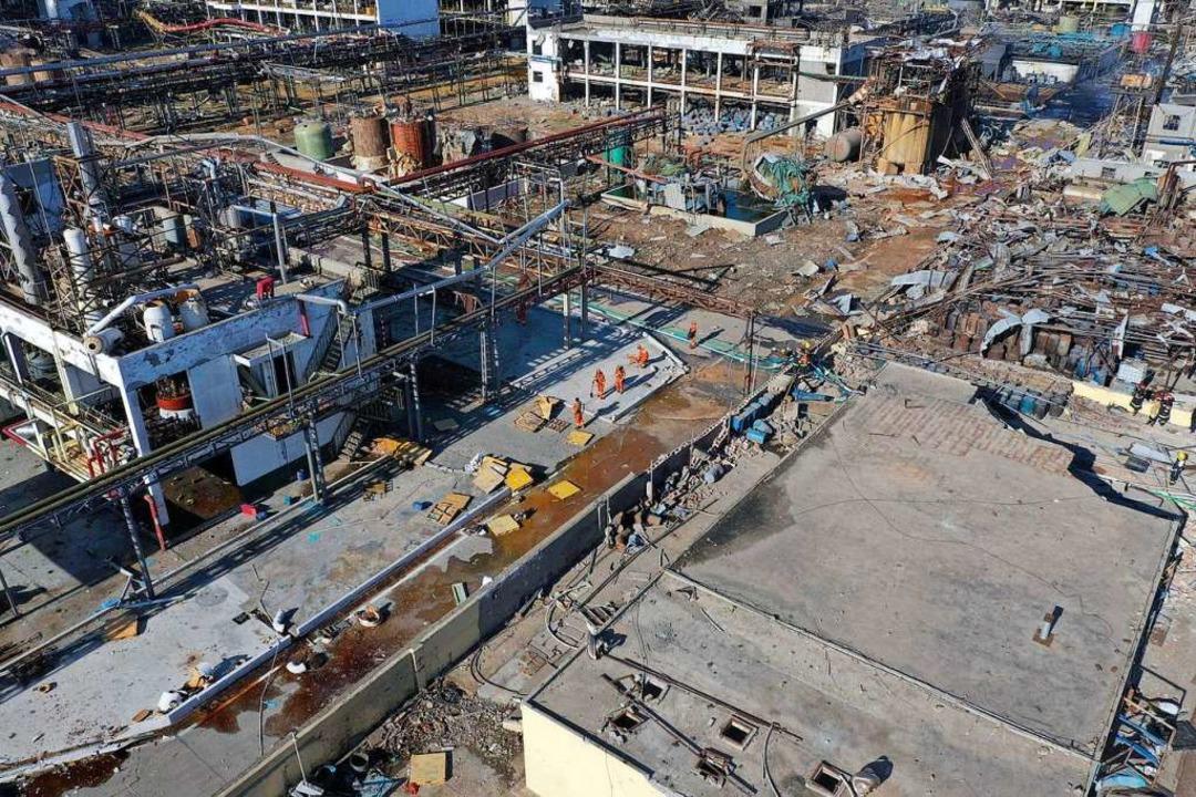 Es ist eines der schwersten Industrieunglücke in China seit Jahren.  | Foto: dpa