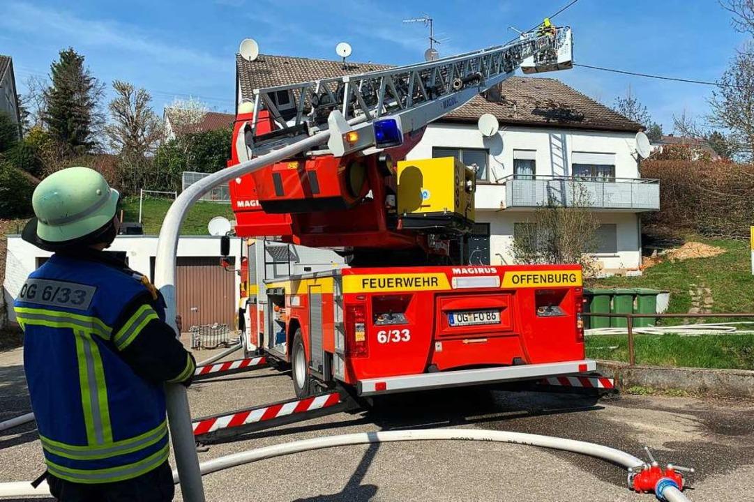 Für die Feuerwehr war der Freitagmitta...schen Appenweier und Achern ausrücken.  | Foto: Helmut Seller