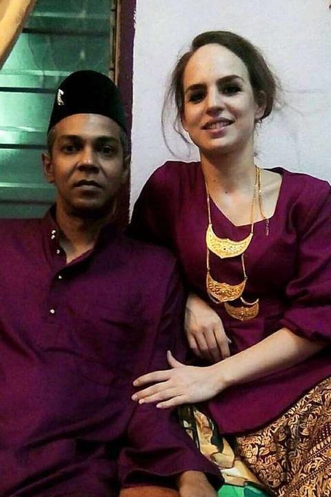 Lisa Schell  mit ihrem Ehemann Remy Ismail  | Foto: Privat