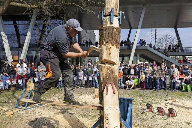 Demonstrations-Messe für modernes Arbeiten im Forst