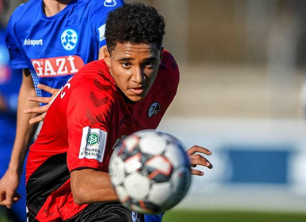 Bester Freiburger nach seiner Einwechs...as Pokal-Aus der U19 nicht  abwenden.   | Foto: Archivfoto: Patrick Seeger