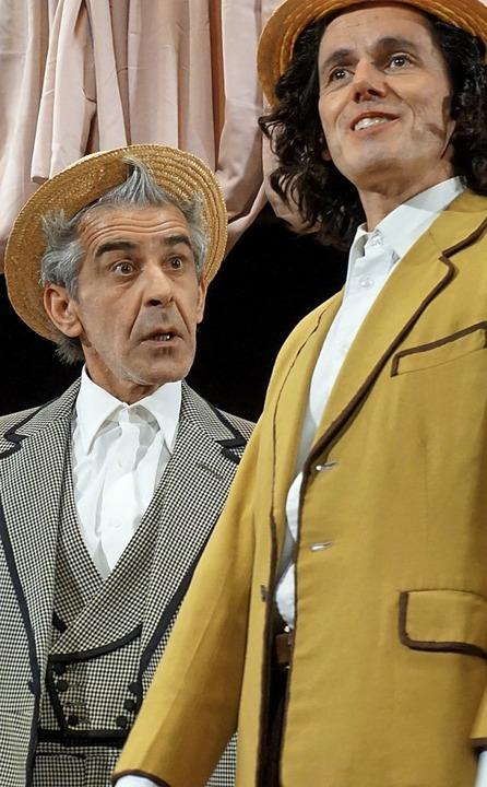 Barnaby Tucker und Cornelius Hackl ali...m Josefowitz vom Theater Zungenschlag   | Foto: Steckmeister