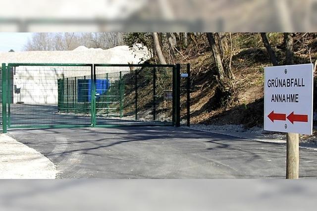 Neue Grünschnittsammelstelle öffnet heute