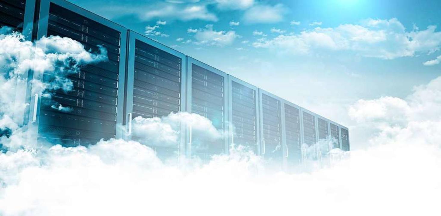 Die Riesendatenspeicher sind die &#822...die Informationen gespeichert werden.   | Foto: Stock.Adobe