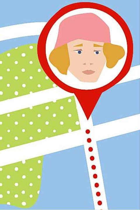 Wo genau ist mein Kind? Apps machen ei...nd einen bestimmten Bereich verlässt.     Foto: Illustration von Karo Schrey