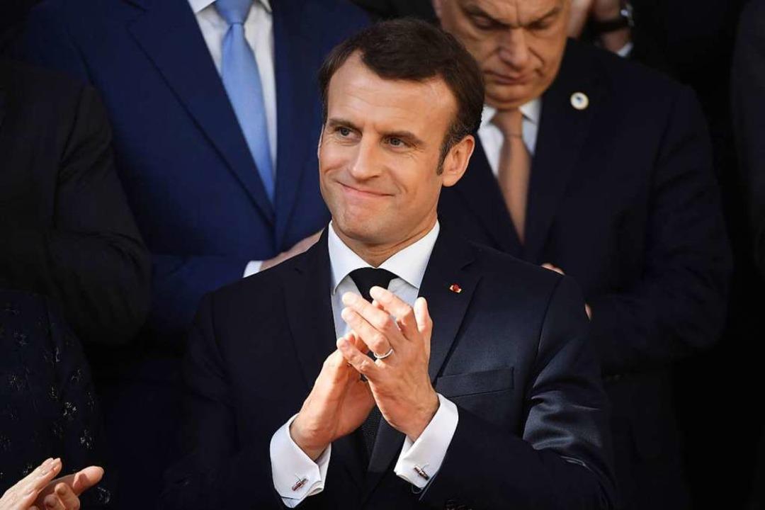 Macron setzt auf Härte.    Foto: AFP