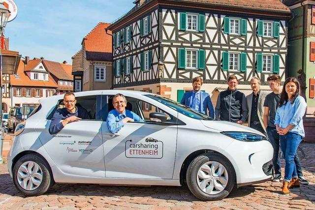Ab Mitte April gibt's Carsharing auch in Ettenheim