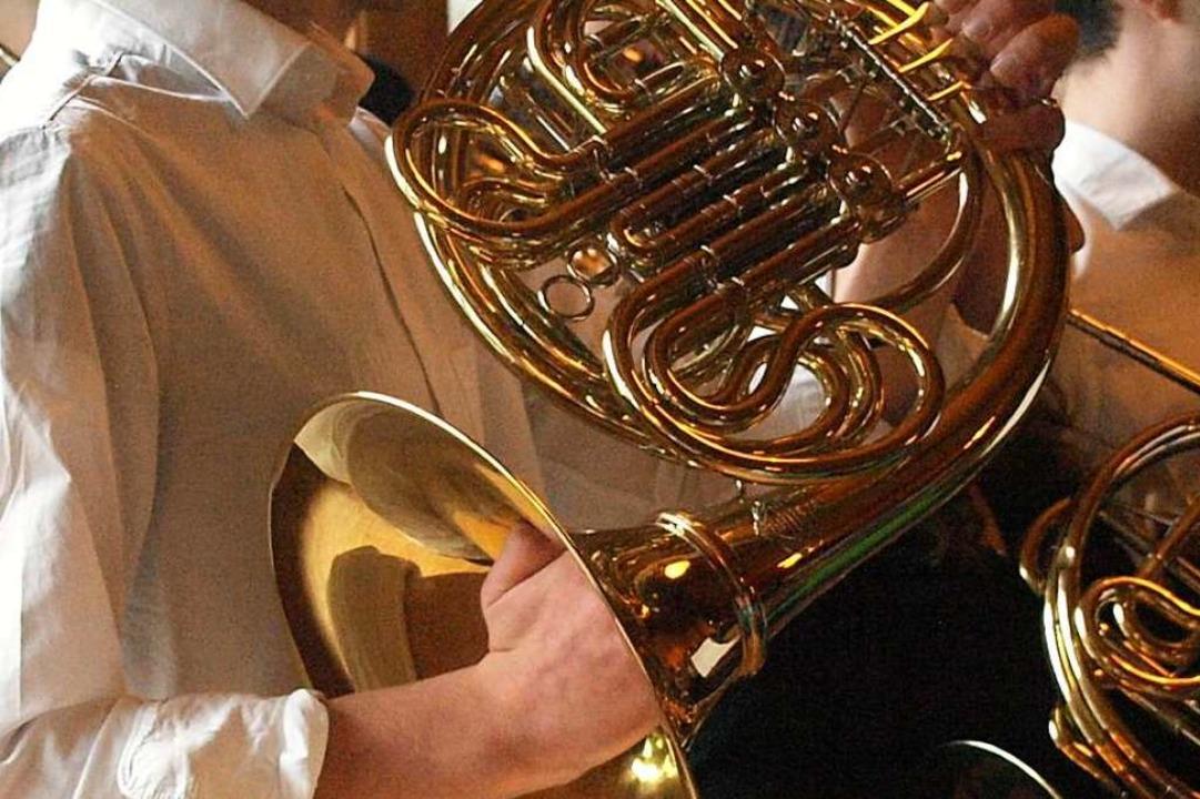 Horn ist sein Instrument: Timo Steininger    Foto: Karin Stöckl-Steinebrunner