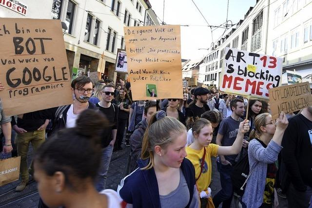 Demo gegen Urheberrechtsreform