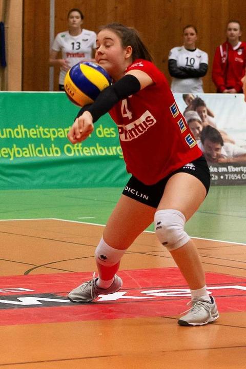 Nicht jeder Ball von Viviane Hones wurde so sicher angenommen  | Foto: Sebastian Koehli