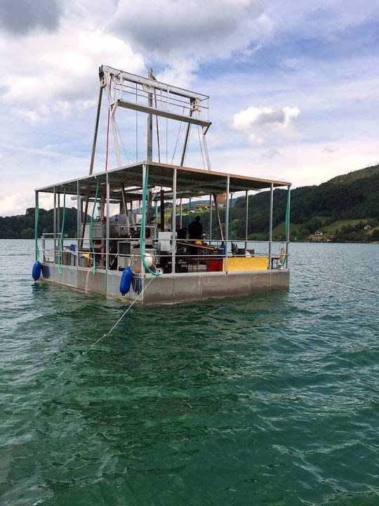 Ein Bohrkern kann Sedimentkerne gewinn...erden soll das neue Gerät im Bodensee.  | Foto: dpa