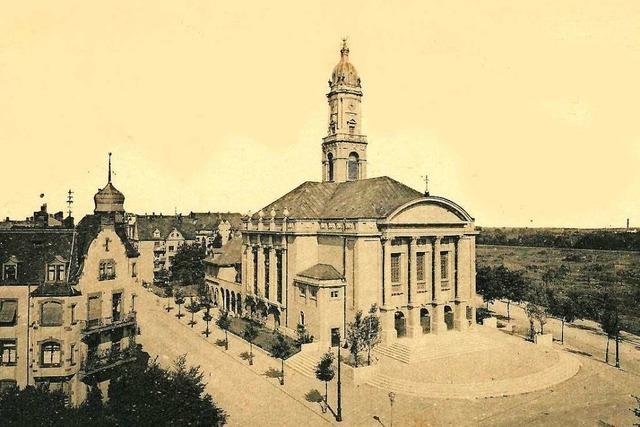 Die Lutherkirche prägte bis zu ihrer Zerstörung den Stadtteil Stühlinger