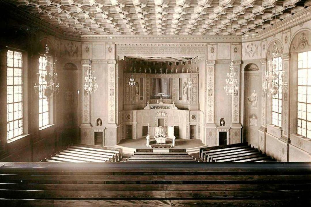 Der  Kircheninnenraum auf einem Bild von 1930.  | Foto: Archiv Hans Sigmund