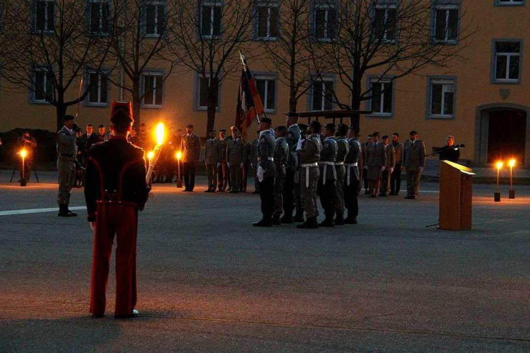 Feierlicher Appell in der Müllheimer Kaserne  | Foto: Alexander Huber