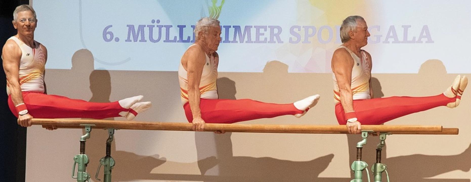 Spitzenturner im Seniorenalter: Jürgen... seine Kollegen vom Baden-Team 60 plus  | Foto: Volker Münch