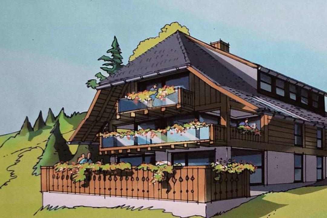So könnte die geplante Hotelanlage aussehen.  | Foto: bz