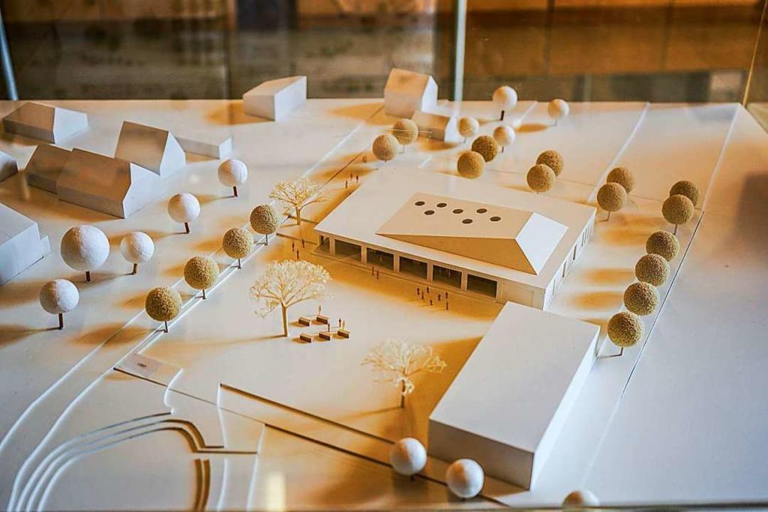 So könnte der neue Bürgersaal in Kippe...estwiese im Vordergrund mal aussehen.   | Foto: Sandra Decoux-Kone