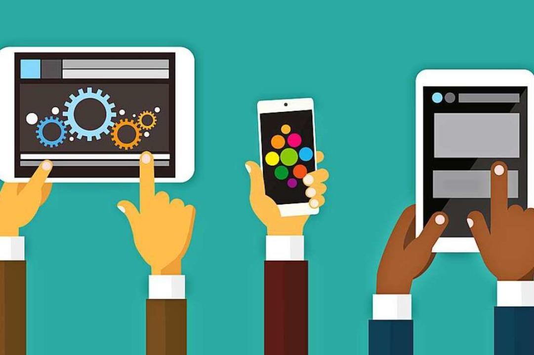 Auf dem Tablet oder dem Smartphone kann man gut Lern-Apps ausprobieren.   | Foto: mast3r/Adobe.stock.com