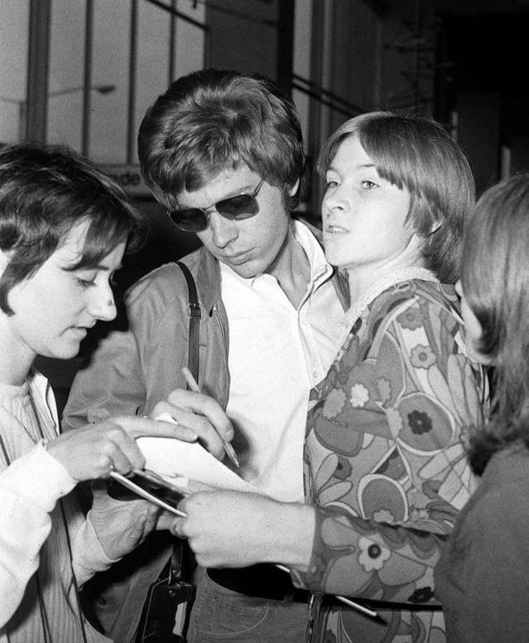 Scott Walker 1967 mit Fans in Moskau  | Foto: dpa