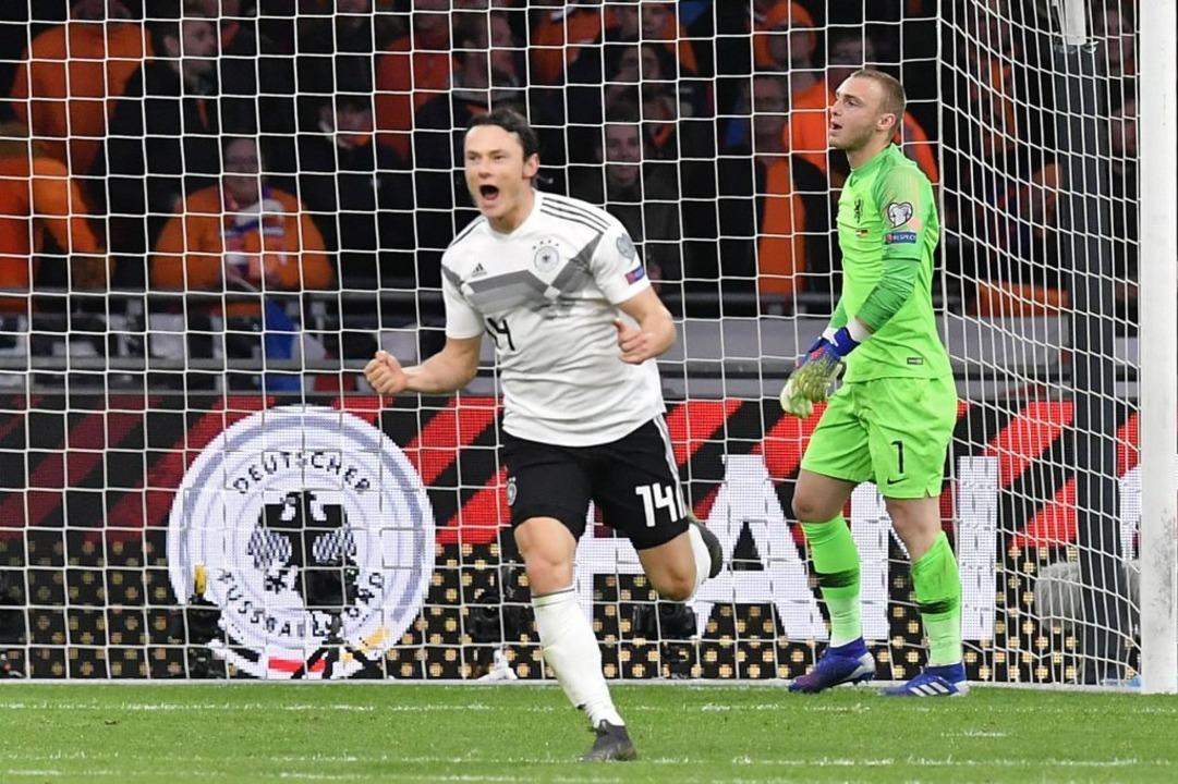Schulz erzielte den Siegtreffer in der 90. Minute.  | Foto: AFP