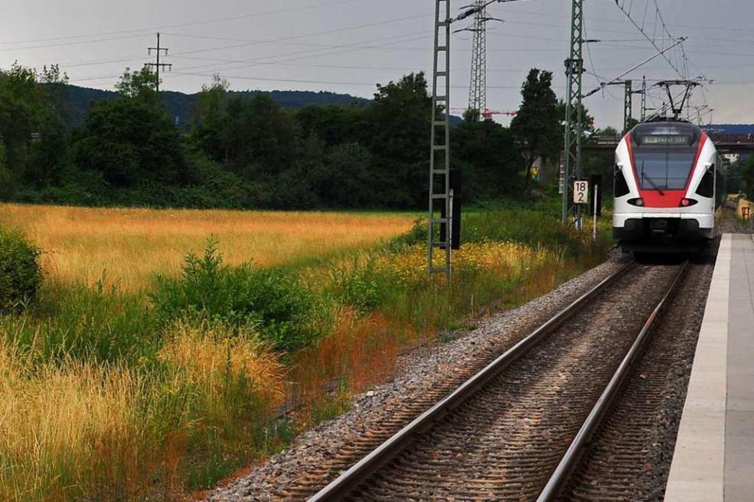 Der Bahnsteig in Schopfheim-West war Schauplatz einer gefährlichen Szene.  | Foto: Nicolai Kapitz