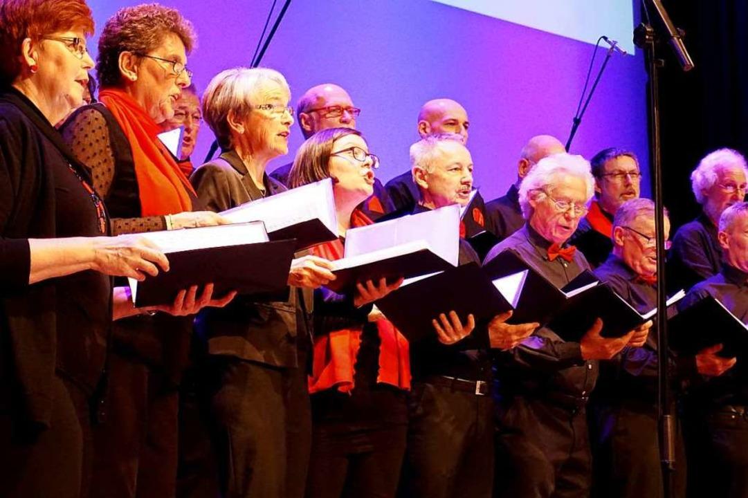 Der gemischte Chor Eintracht aus March-Hugstetten in Aktion  | Foto: Julius Wilhelm Steckmeister