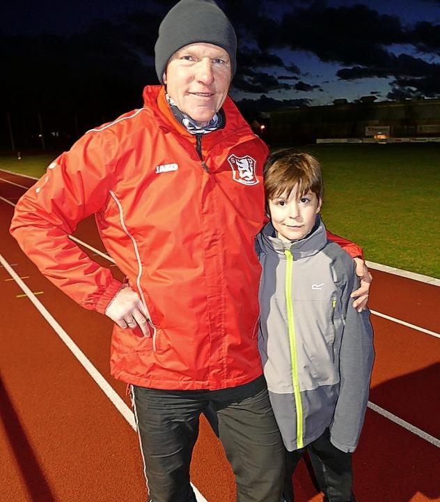 Jannis Schaich und Trainer Uwe Falk   | Foto: Schaich
