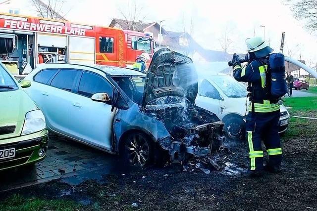 Serie von Autobränden in der Ortenau dauert an – schon fast eine halbe Million Euro Schaden