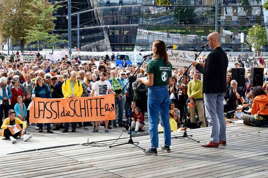 2000 Menschen haben im vergangenen Her...auch der Freiburger Gemeinderat stark.  | Foto: Thomas Kunz