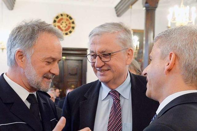 Polizeipräsident Rotzinger wird mit viel Lob verabschiedet