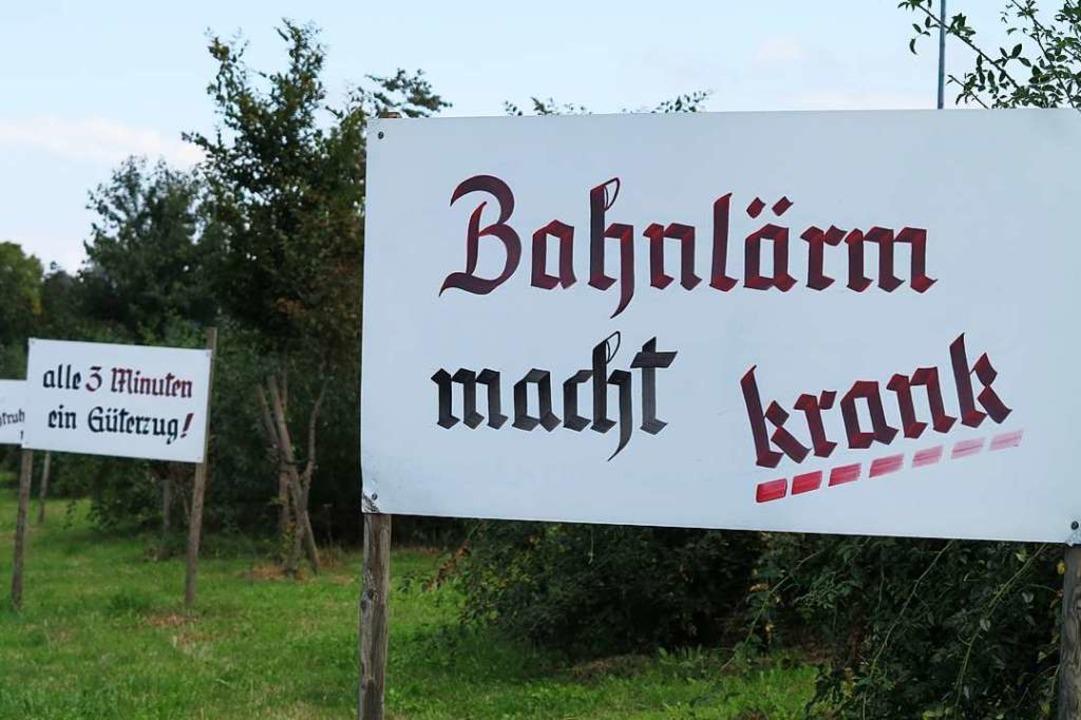 Die Bürgerinitiative Pro Rheintal kämp...anstaltung der Bürgerinitiative AToKK.  | Foto: Dorothee Philipp