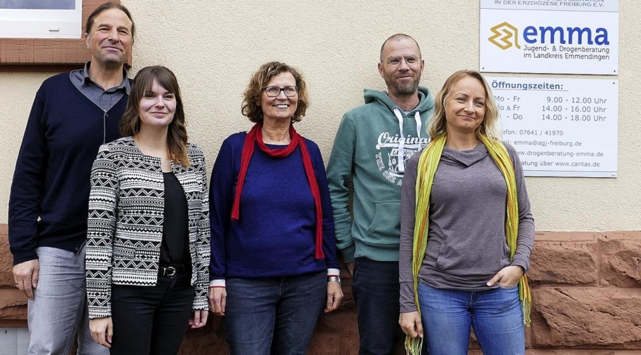 Das Team der Emmendinger Drogenberatun...itajs, Martin Fischer und Elena Weber.  | Foto: NatHalie Gebel