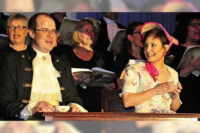 Best-Of-Programm des Chor Binzgen. Querschnitt aus zwanzig Jahren Musicalhits im Laufenburger Pfarrheim.