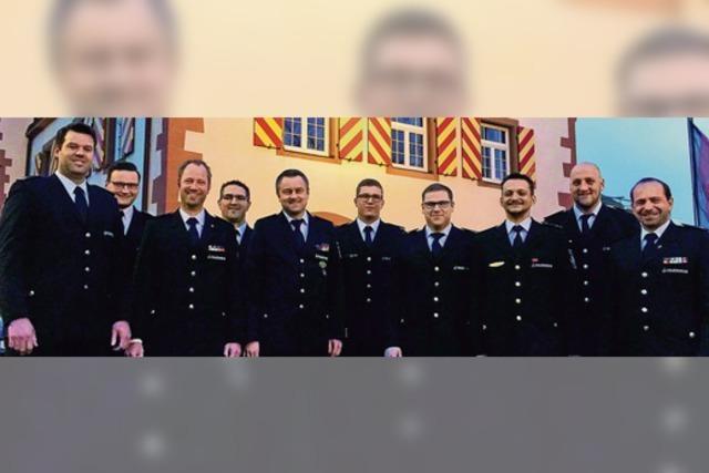 Neue Führungsriege der Feuerwehr Friesenheim