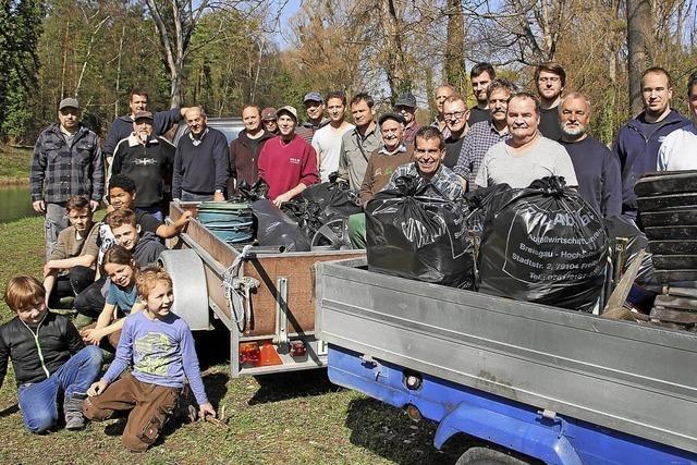 15 Säcke voll Müll entsorgt