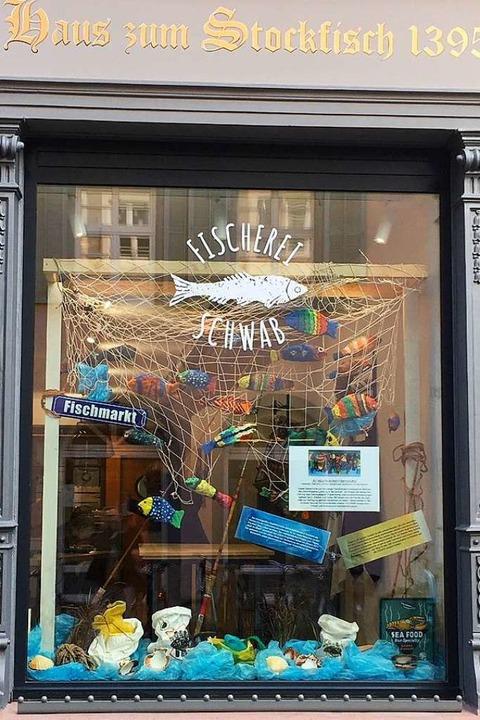 Die Schaufenster-Ausstellung zum Thema... der Freiburger Herrenstraße zu sehen.    Foto: Schwab