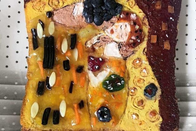Marie Sophie Hingst stellt mit Brot und Aufstrichen berühmte Gemälde nach