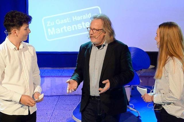 Kolumnist Harald Martenstein war im Rotteck-Gymnasium zu Gast