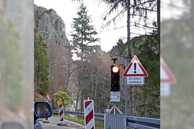 Straßensperrung zwischen Wieden und Münstertal
