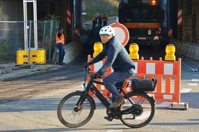 Durch die Baustelle in Haltingen wird ein Fuß- und Radweg führen