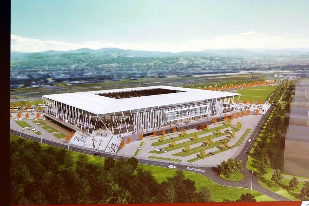 So soll das neue Stadion des SC Freiburg aussehen.  | Foto: Joachim Hahne