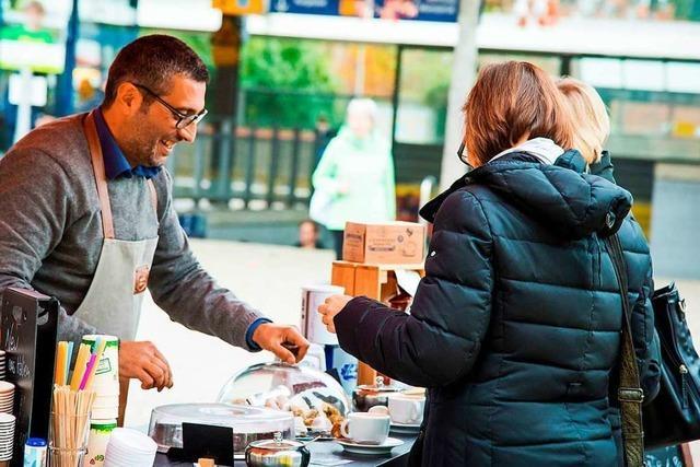 Auf dem Freiburger Münstermarkt gibt es bald zum ersten Mal auch Kaffee