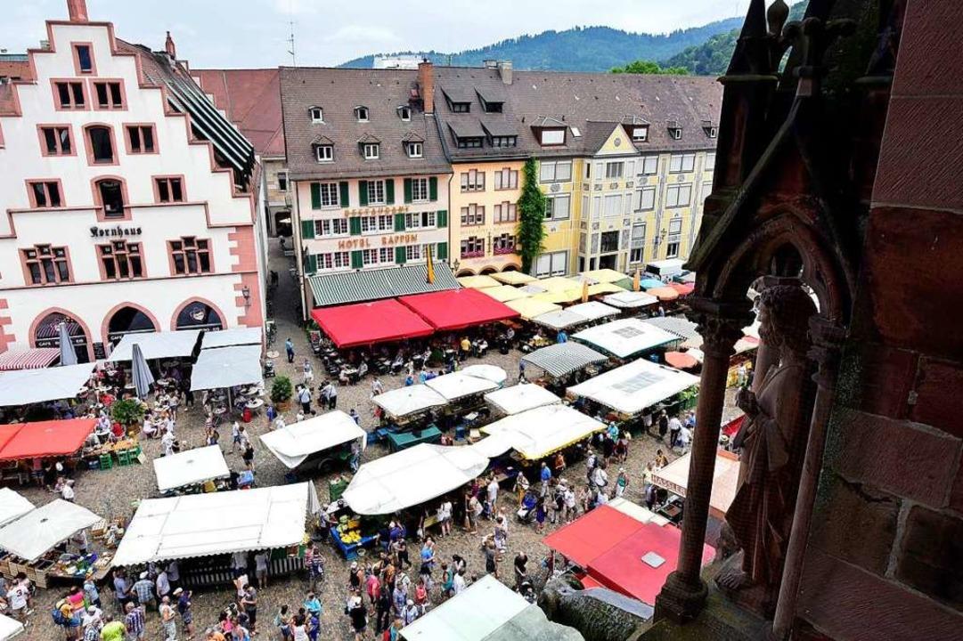 Auf dem Freiburger Münstermarkt gibt es bald drei neue Stände.  | Foto: Thomas Kunz