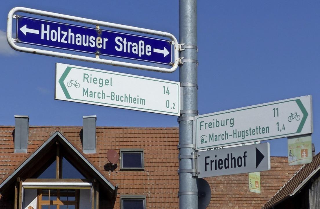 Da geht's lang: Die Schilder sol...fahrern die Orientierung erleichtern.   | Foto: Claudia Bachmann-Goronzy