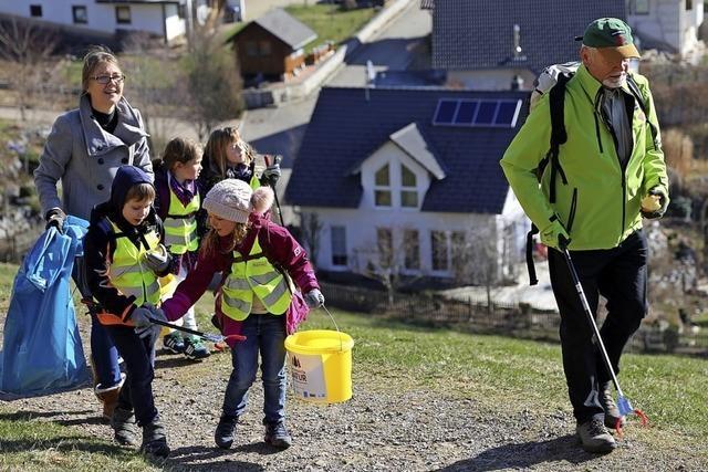 80 Schüler setzen sich für saubere Landschaft ein