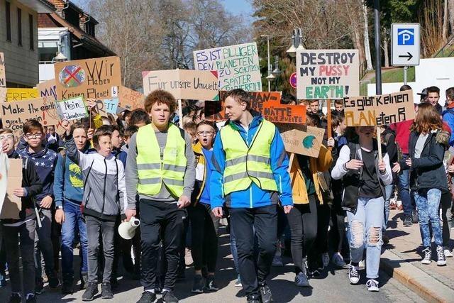 300 Jugendliche aus dem Schwarzwald demonstrieren in Neustadt für Klimaschutz