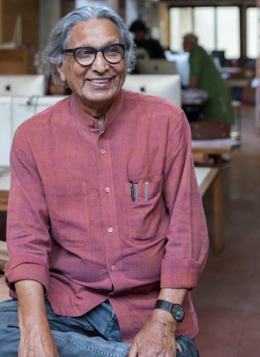 Balkrishna Doshi in seinem Atelier Sangath, Ahmedabad  | Foto:  Iwan Baan