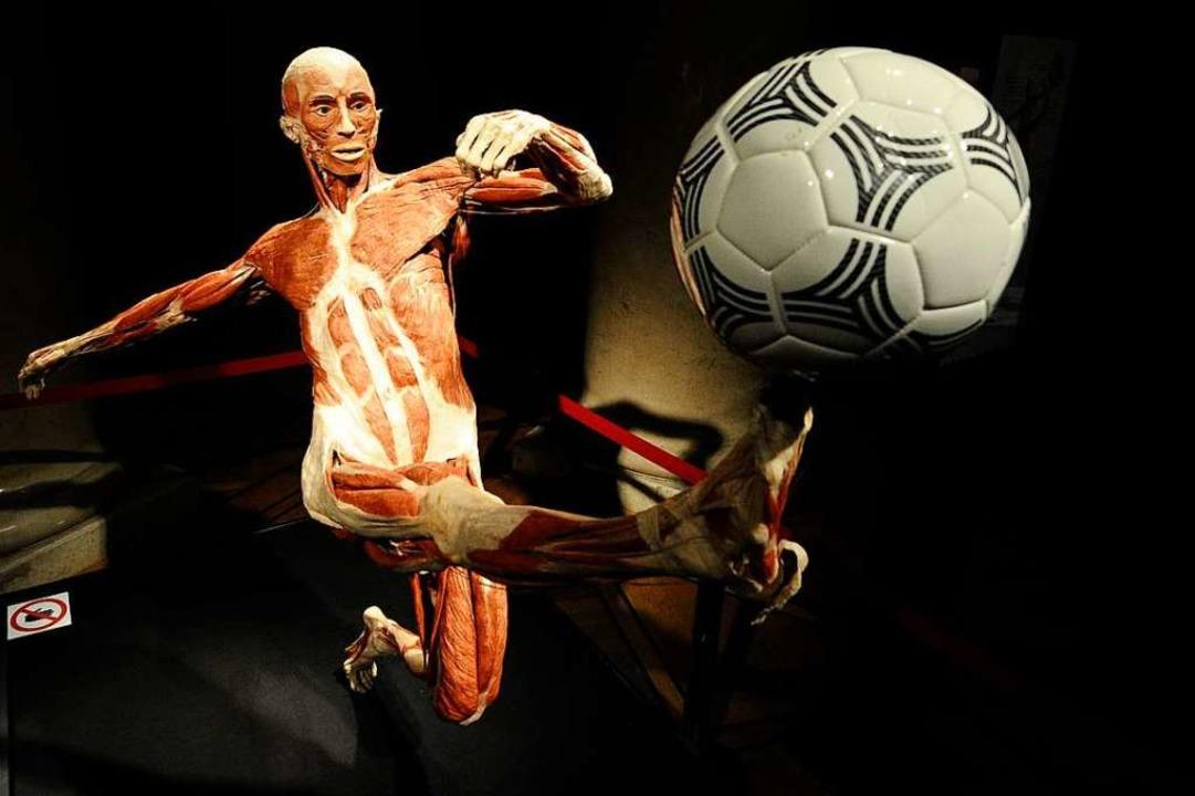 Die Tätigkeiten, bei denen die Figuren...– wie bei diesem Fußballspieler.  | Foto: dpa