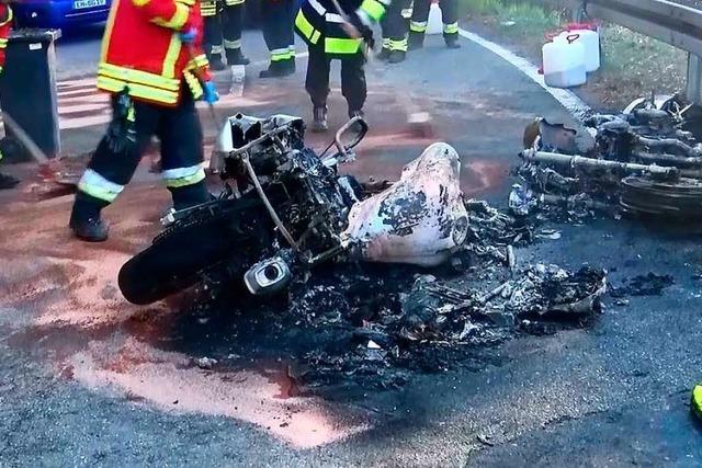 Fahrsicherheitstraining im Bleichtal endet für Motorradfahrer im Krankenhaus