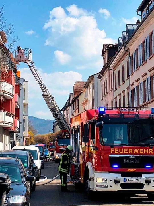 Feuerwehreinsatz in der Zeller Straße in der Offenburger Oststadt.  | Foto: Feuerwehr